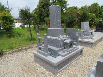 墓石施工写真(総庵治石のお墓)