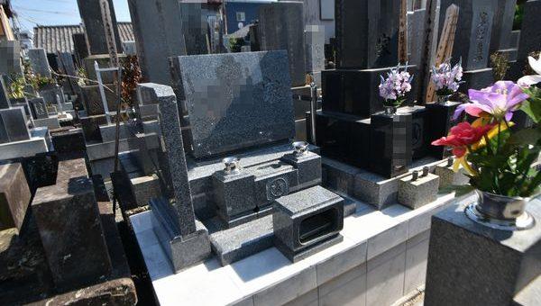 墓石施工写真(洋型)