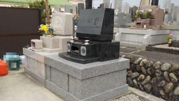 墓石施工写真(洋型墓石)